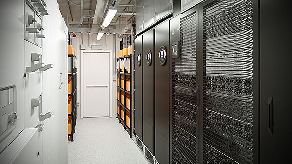 Network Closet Liebert powermod interior