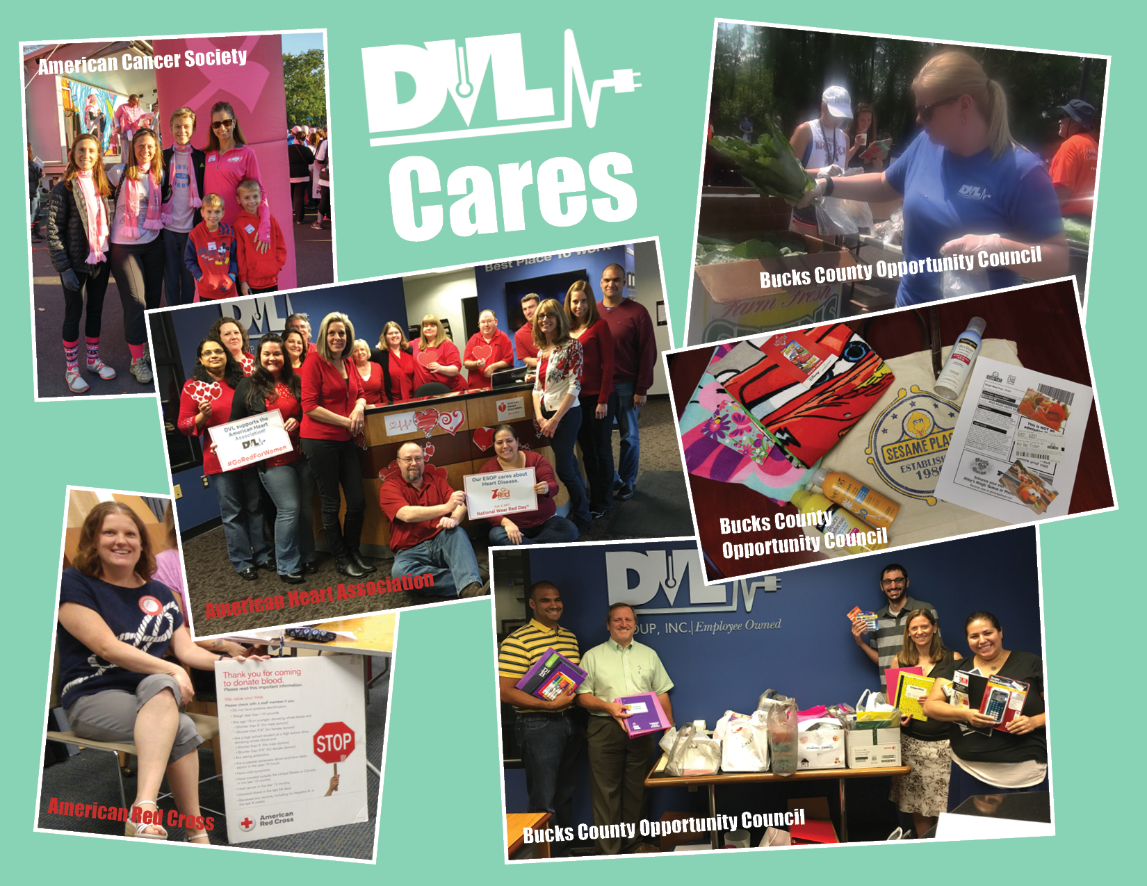 dvl cares philanthropy and charirty collage bucks county opportunity council