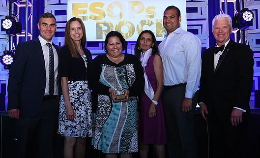 DVL wins award at Esop association conference pictured here with Gary Shorman