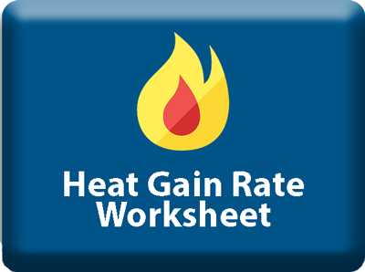 Heat Gain Rate Worksheet