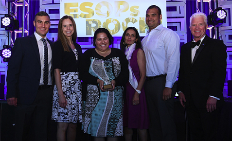 DVL staff accepting ESOP Association award